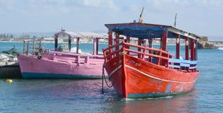 Seehafen Akko-Morgen Stockbilder