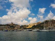 Seehafen in Gozo lizenzfreies stockfoto
