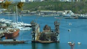 Seehafen im Bay-City stock video footage