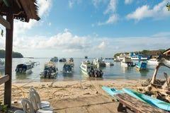 Seehafen Padang Bai Stockfoto