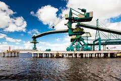 Seehafen Ventspils Stockfotos