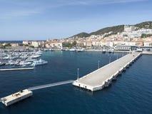 Seehafen von Ajaccio Lizenzfreies Stockfoto