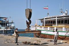Seehafen von Berbera im Golf von Aden Stockbild