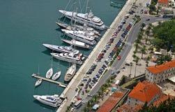 Seehafen von Kotor, Montenegro stockfotos