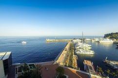 Seehafen von Monte Carlo, Monaco Stockfotografie