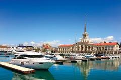 Seehafen von Sochi Lizenzfreie Stockbilder