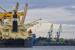 Seehafen von Swinoujscie Stockfotografie