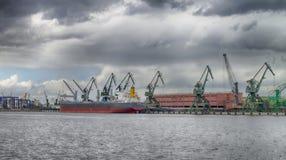 Seehafen vor dem Sturm Stockfotografie