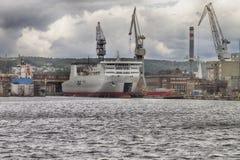 Seehafen vor dem Sturm Lizenzfreie Stockbilder