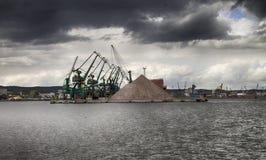 Seehafen vor dem Sturm Stockbild