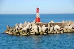 Seehafenlandschaft Stockfoto