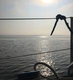 Seehelles Ansichtsonnenlicht von der Yacht Stockbilder