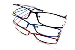 Seeing colors. Glasses or spectacles Royalty Free Stock Photography