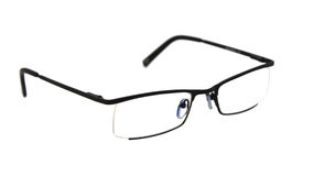 Seeing glasses on white Stock Photo