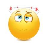 Seeing stars emoticon Stock Photo