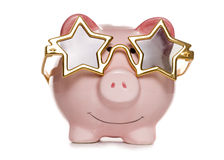 Seeing stars piggy bank Stock Photography