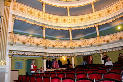 Seeing theater hall in Oravita, in the old region of Banat Stock Photography