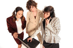 Seeing to your needs. Woman helping with your business communication needs Royalty Free Stock Photography