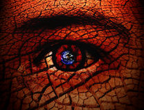 Seeing The World Through My Eyes. Conceptual Image of The World Royalty Free Stock Images
