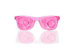 Seeing the world through rose colored glasses. Stock Image