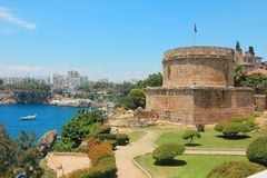 Seeküste, Antalya, die Türkei stockbild