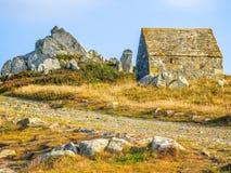 Seeküste auf der Guernsey-Insel stockfotografie