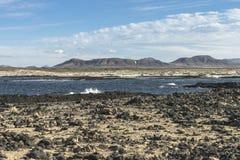 Seeküste auf Fuertaventura stockfotografie