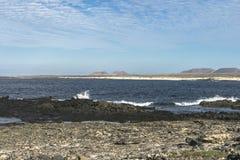 Seeküste auf Fuertaventura lizenzfreies stockbild