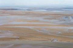 Seeküste bei Ebbe, St- Michael` s, Frankreich Stockfotografie