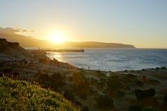 Seeküste-Dämmerung Lizenzfreie Stockfotos