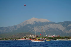 Seeküste, die Türkei. lizenzfreie stockfotografie