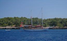 Seeküste, die Türkei. lizenzfreies stockbild