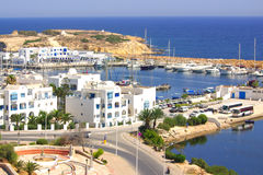 Seeküste in Monastir, Tunesien in Afrika lizenzfreie stockfotografie