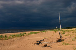 Seeküste, sandiger Strand stockfotos