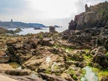 Seeküste und Ansicht des Golfs lizenzfreie stockfotografie