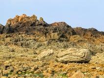Seeküste und Ansicht des Golfs stockfoto