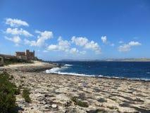 Seeküste von Malta Stockfotografie