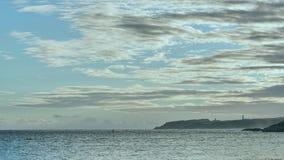 Seeküste vor Sonnenuntergang stockfoto