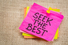 Seek the best reminder note Royalty Free Stock Photo