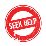 Seek Help rubber stamp Royalty Free Stock Images