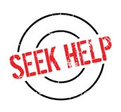 Seek Help rubber stamp Stock Photo