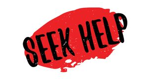 Seek Help rubber stamp Royalty Free Stock Photo