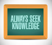 Always seek knowledge board sign concept Stock Photo