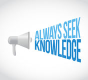 always seek knowledge megaphone Stock Images