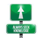 Always seek knowledge road sign concept Stock Images