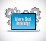 Always seek knowledge technology sign concept Stock Photography