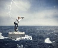 Seek a solution to the crisis Stock Photos