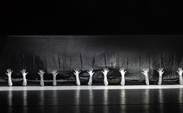 """Seek survival in the seam-man in a set-Huang Mingliang`s dance""""No shelter"""". Huang Mingliang`s dance""""No shelter"""",Young dancers from stock photo"""