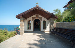 Seekapelle in der bulgarischen Stadt von Sozopol Stockbilder