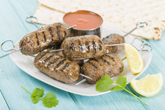 Seekh kebab Royalty-vrije Stock Foto
